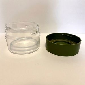 Vintage Pyrex Ware Glass Cannister Avocado Green